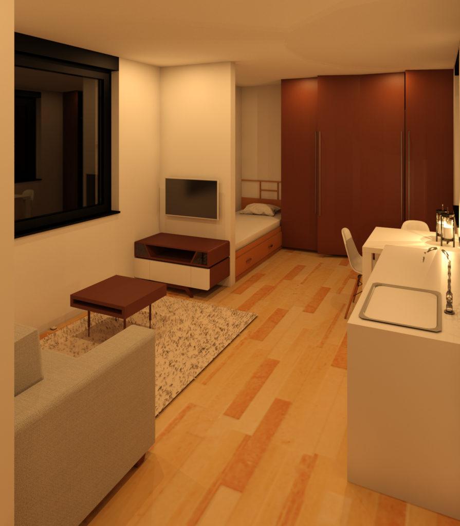 Prefab toepassing woonkamer
